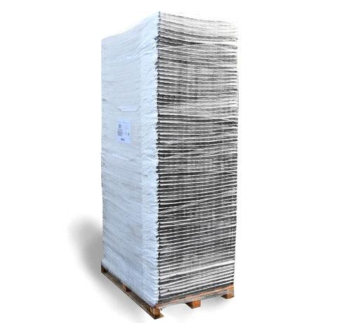 Trudiplas Pallet Grindplaten Zwart - 120 x 80 cm + Onderdoek- 75 stuks