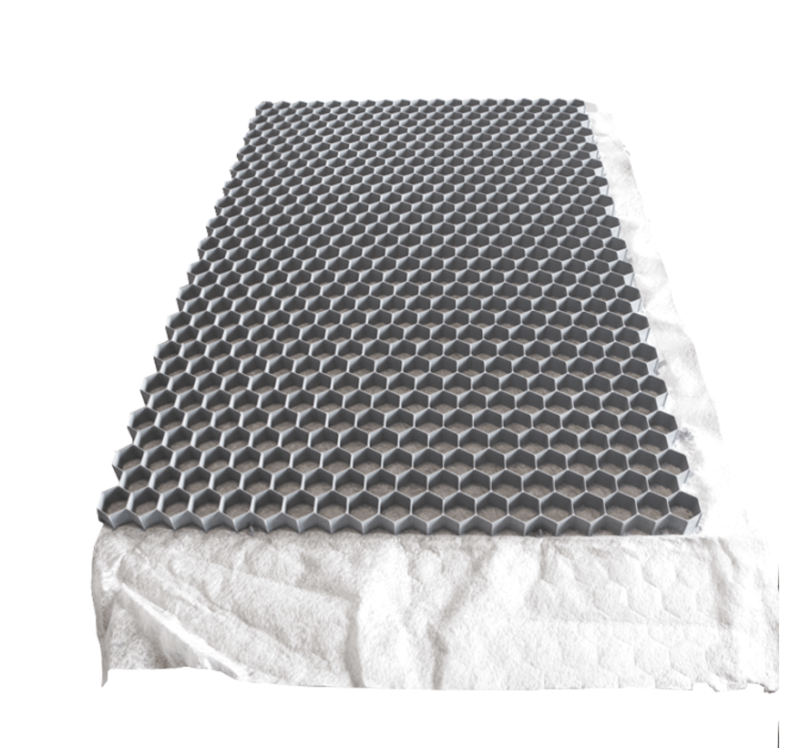 Grindplaat Grijs - 120 x 80 x 3 cm + Onderdoek