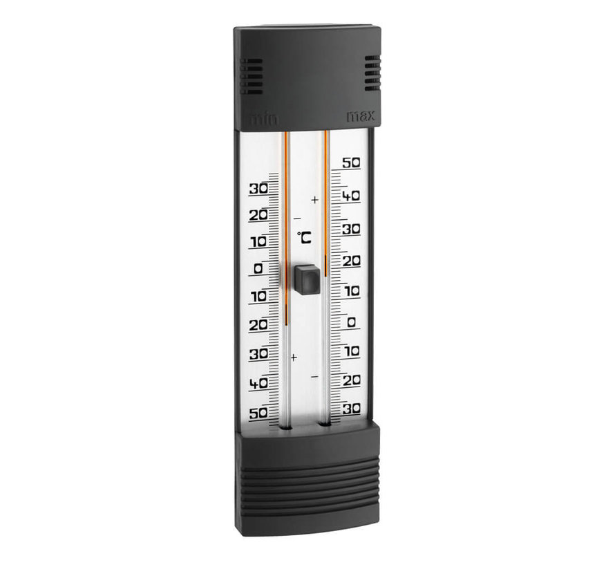 Thermometer - Mini/Max - Kwikvrij zwart
