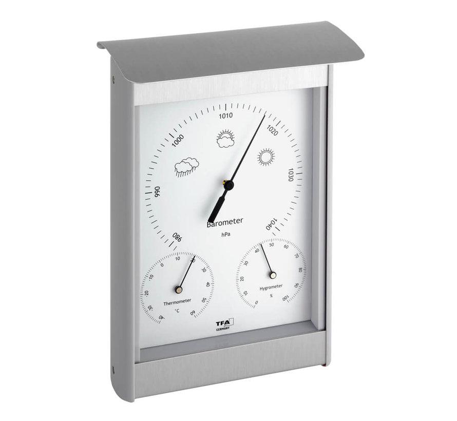 Weerstation Aluminium - Kunststof - 3 in 1