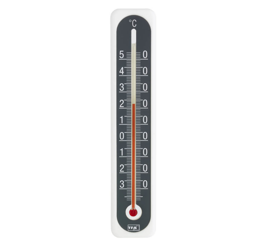 Thermometer Kunststof - Wit - Antraciet