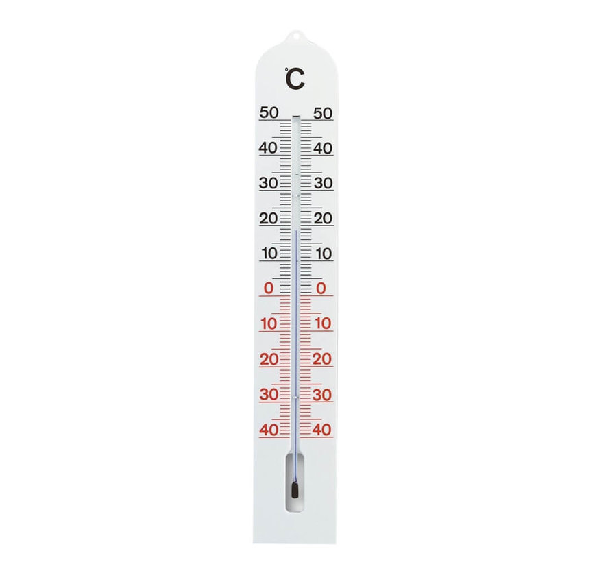 Thermometer - 41 cm - Kunststof - Wit
