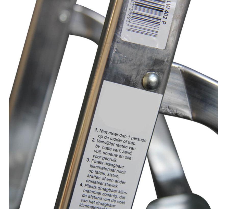 Huishoudtrap Aluminium - Eco 6 treden