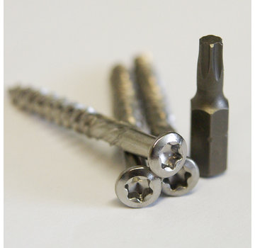 Meuwissen Agro Vlonderschroeven 5,0 x 80 mm - RVS 85 stuks + 2 bitjes - Torx