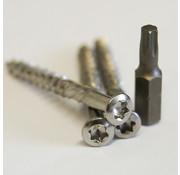 Meuwissen Agro Vlonderschroeven RVS 100 st. + 2 bitjes - Torx 5,0 x 70mm