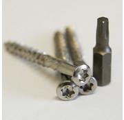 Meuwissen Agro Vlonderschroeven  5,0 x 60 mm - RVS 125 stuks + 2 bitjes