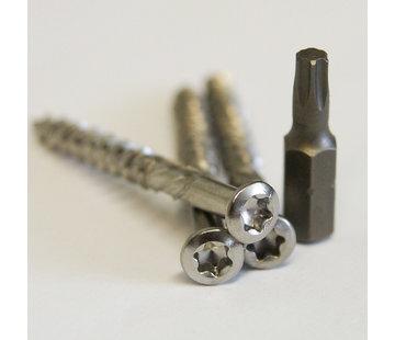 Meuwissen Agro Vlonderschroeven 5,0 x 50 mm - RVS 150 stuks + 2 bitjes