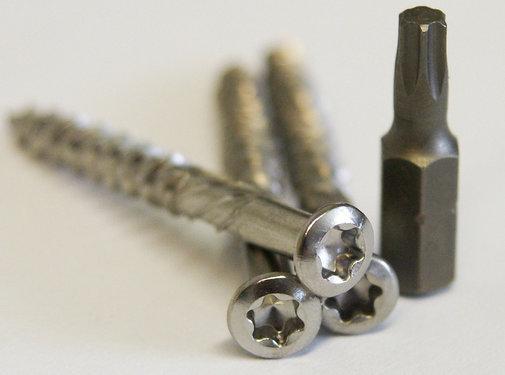 Meuwissen Agro Vlonderschroeven 5,0 x 40 mm - RVS 175 stuks + 2 bitjes