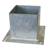 Meuwissen Agro Plaatpaalhouder 145 x 145 mm Thermisch Verzinkt