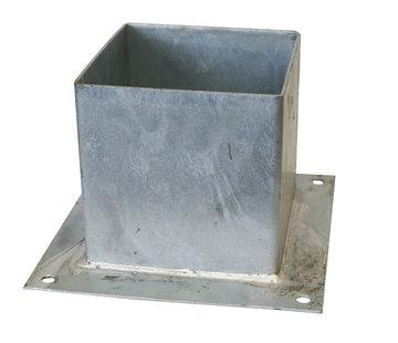 Meuwissen Agro Plaatpaalhouder 121 x 121 mm - Thermisch Verzinkt