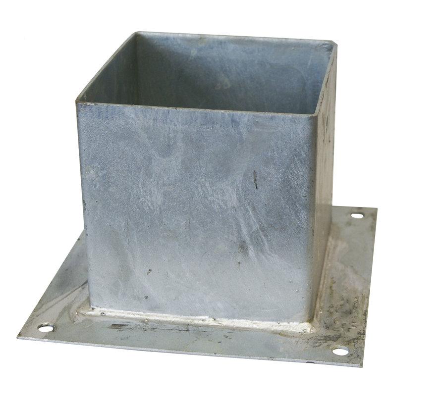 Plaatpaalhouder 121 x 121 mm - Thermisch Verzinkt