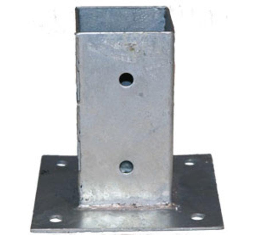 Plaatpaalhouder - Thermisch Verzinkt - 71 x 71 mm