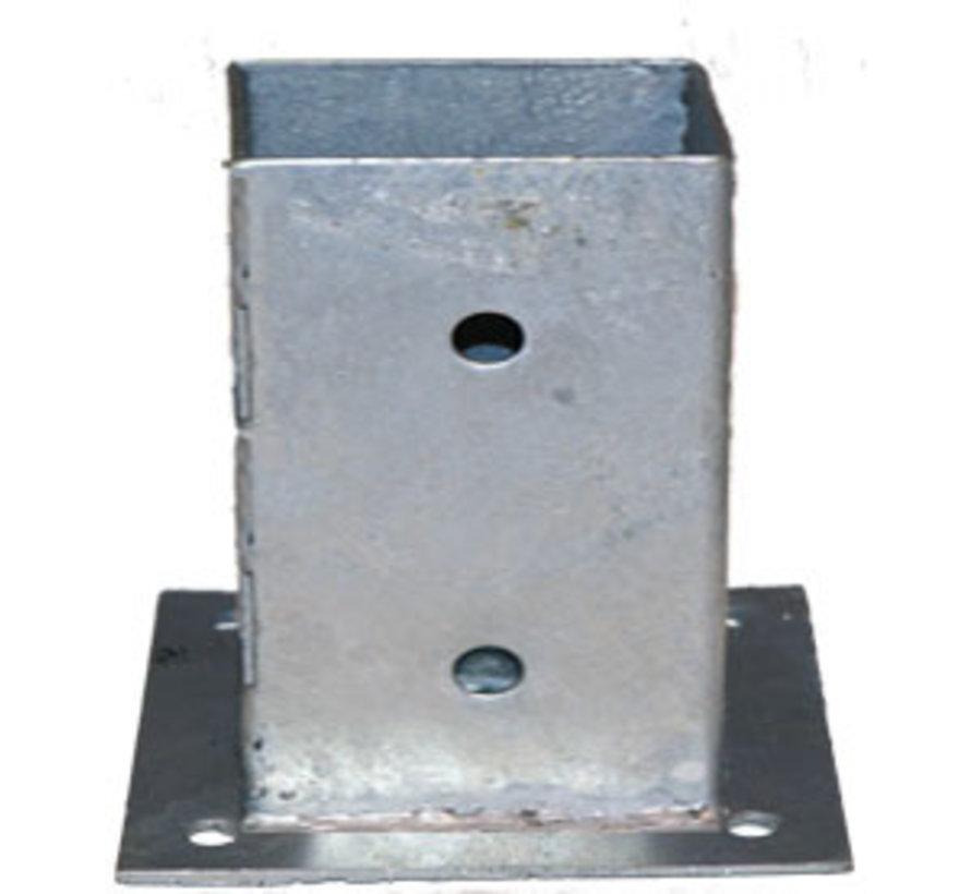 Plaatpaalhouder - Thermisch Verzinkt - 90 x 90 mm