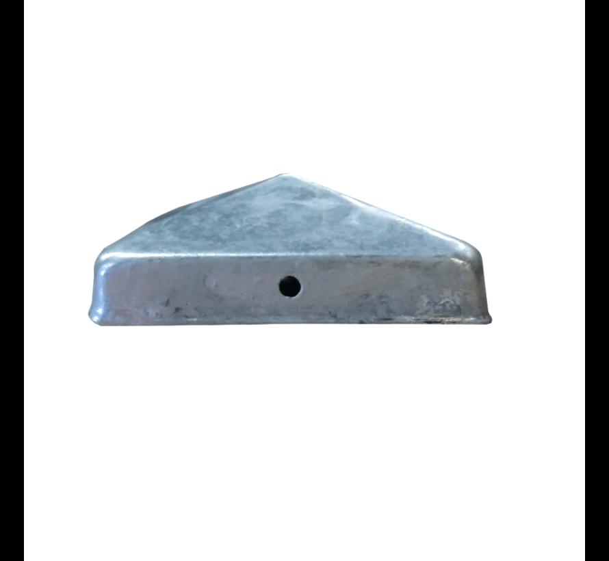 Paalornament Afdekkap gegalvaniseerd 90 x 90 mm