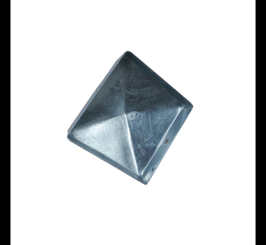 Paalornament Afdekkap gegalvaniseerd 70 x 70 mm