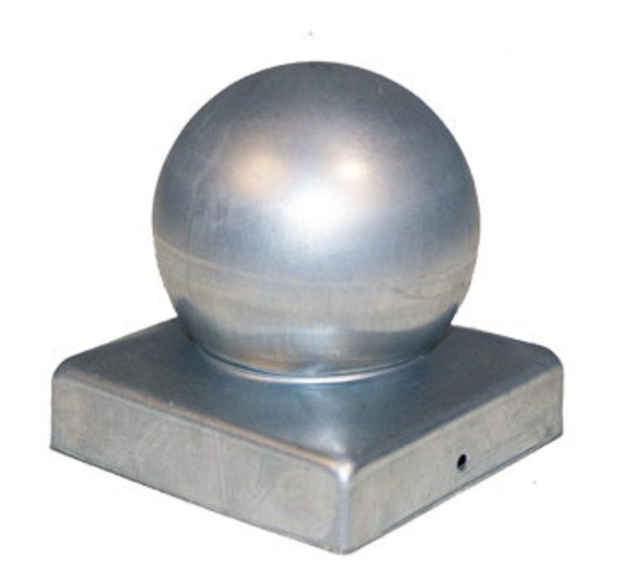 Paalornament Afdekknop gegalvaniseerd 90 x 90 mm