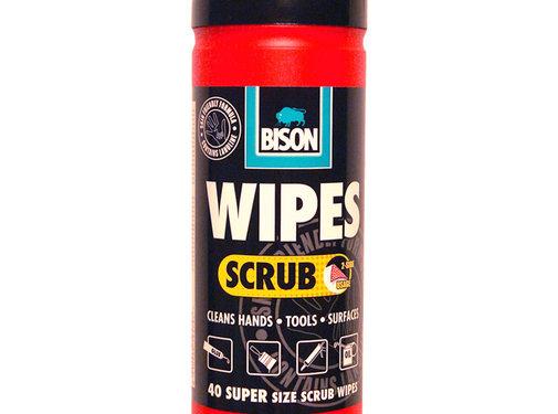 Bison Bison Wipes Scrub - 40 stuks