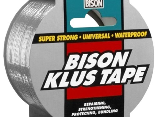 Bison Bison Klus Tape 10 x 50 mm grijs