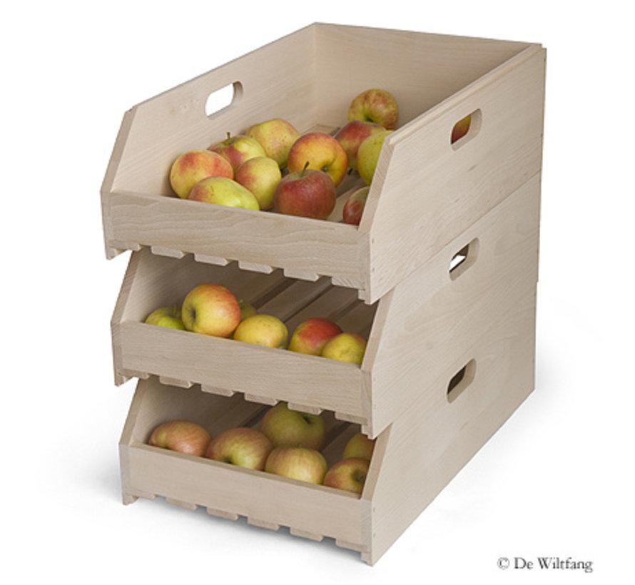 Fruitkistje stapelbaar - Beukenhout