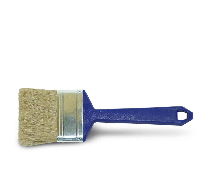 Wegwerpkwast Plat - Serie 2001 - Wit haar - 7 cm
