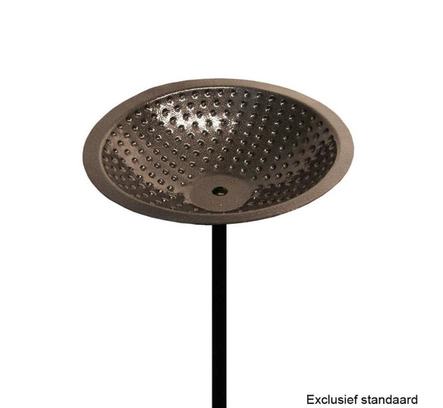 Vogelbadje tinkleurig Metaal - Ø 20 cm