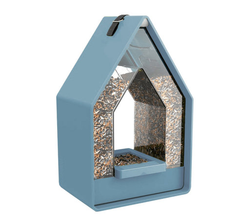 Emsa Landhaus - Vogelvoeder Dispenser - Blauwgrijs