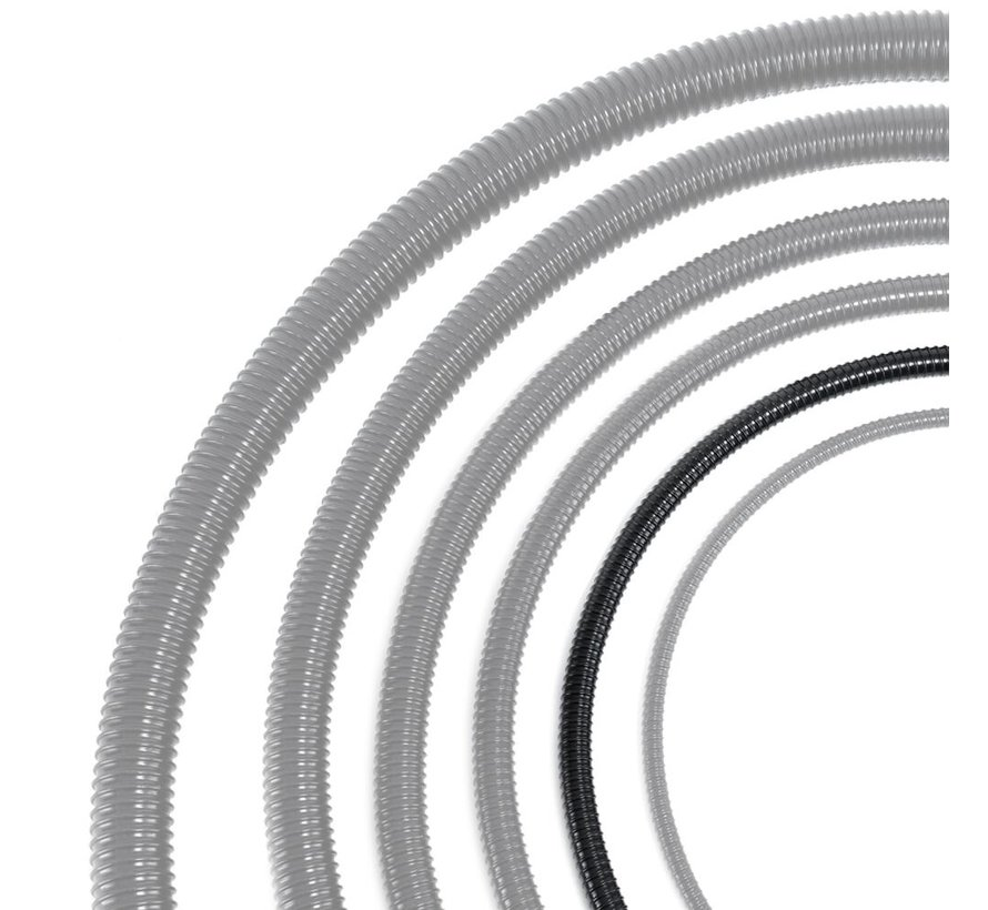 Vijverslang - 20 mm x 30 meter - Zwart