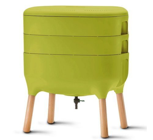 Plastia Wormenbak - Worm Composter - Lime