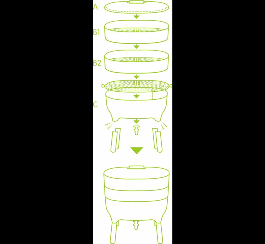 Wormenbak - Worm Composter - Ivoor