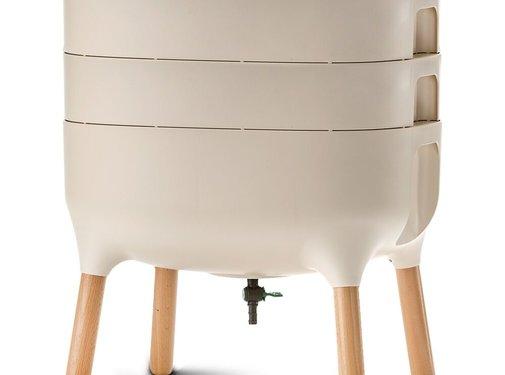 Plastia Wormenbak - Worm Composter - Ivoor