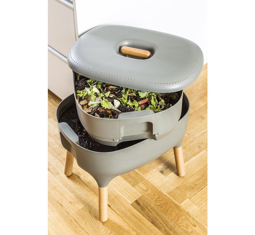 Worm Composter - Uitbreidingsbak - Antraciet