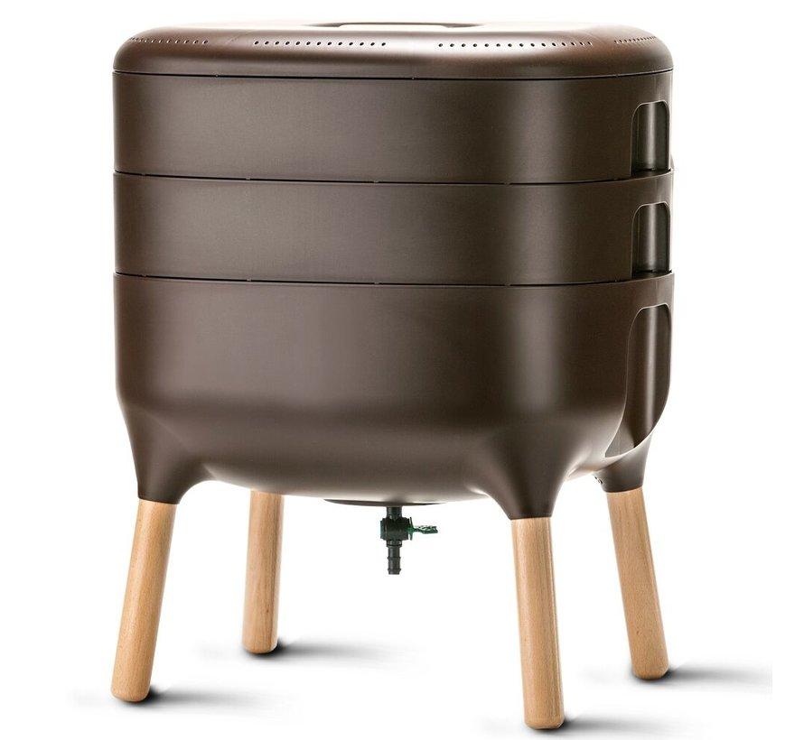 Worm Composter - Uitbreidingsbak - Bruin