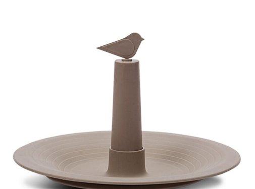 Plastia Vogelbadje Finch - Taupe