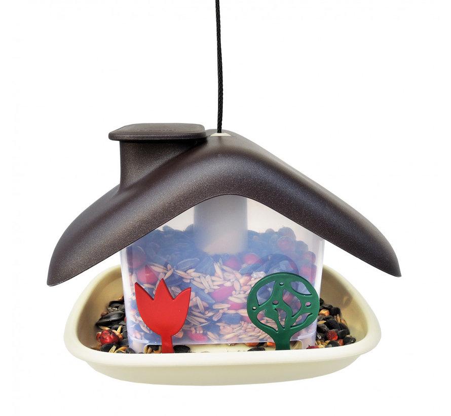 Vogelvoederhuis - Domek - Bruin