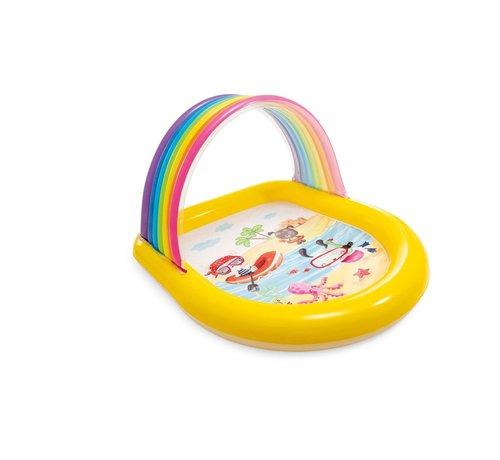 Intex Kinderzwembad - Regenboog met sproeiers
