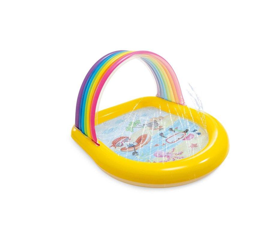 Kinderzwembad - Regenboog met sproeiers