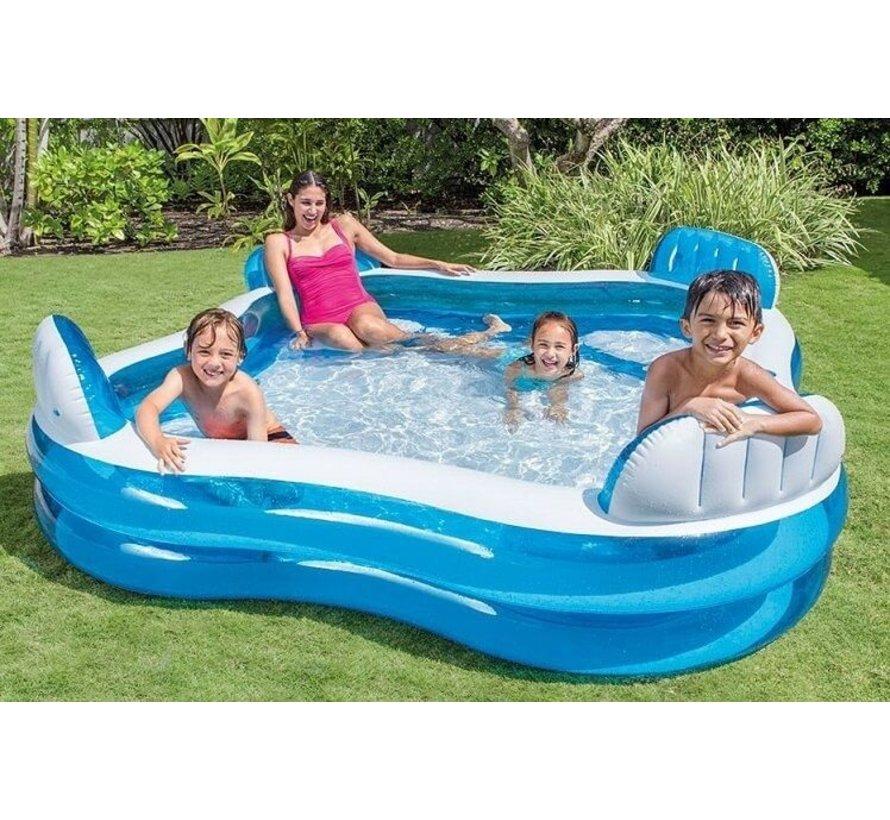 Opblaaszwembad - Familie Lounge