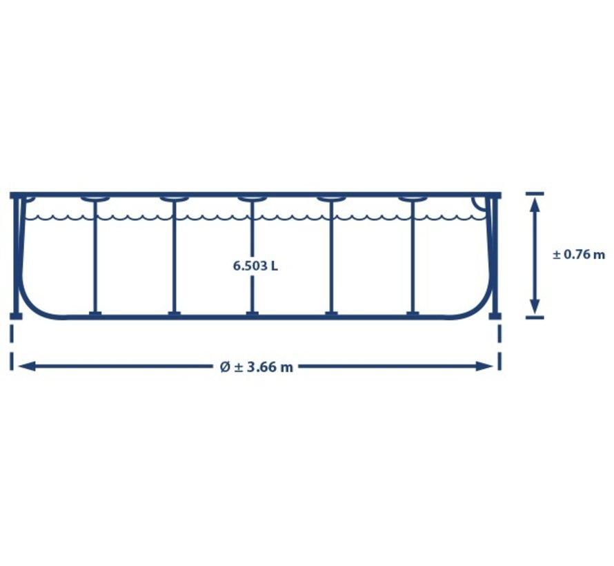 Intex Metal Frame - Zwembad - 366 x 76 cm