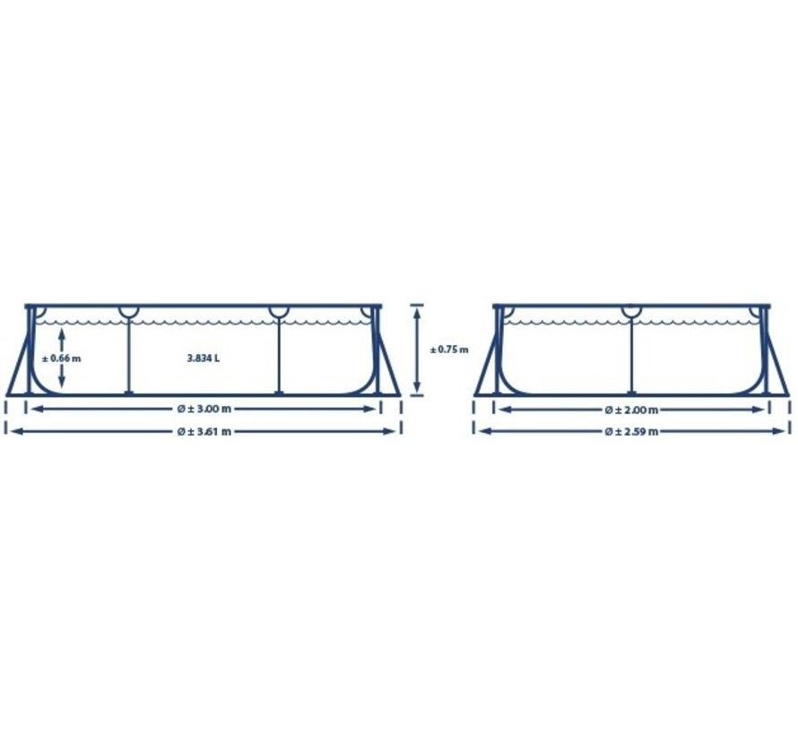 Intex Zwembad - Rechthoekig - Metal Frame