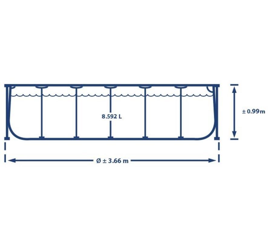 Intex Zwembad - Prism Frame - 366 x 99 cm