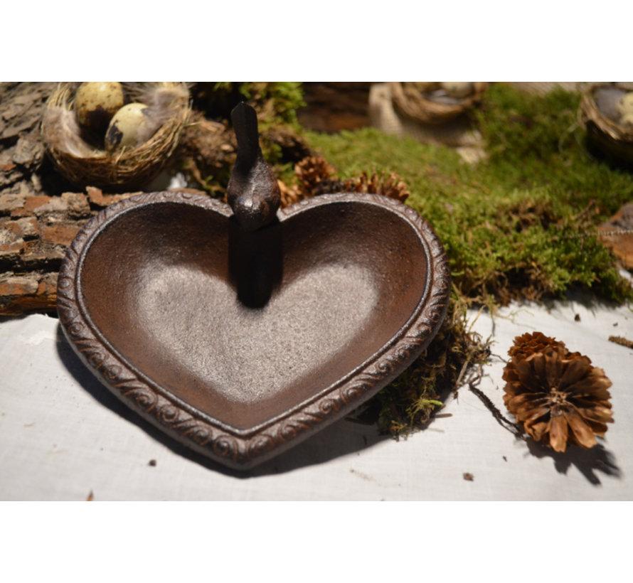 Vogelbad - Hartvormig gietijzer