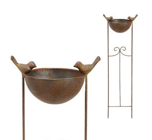 Meuwissen Agro Vogelbad - Tuinsteker - 76 cm