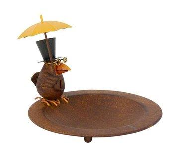 Meuwissen Agro Vogelbad - Vogel met paraplu - ø 23 cm
