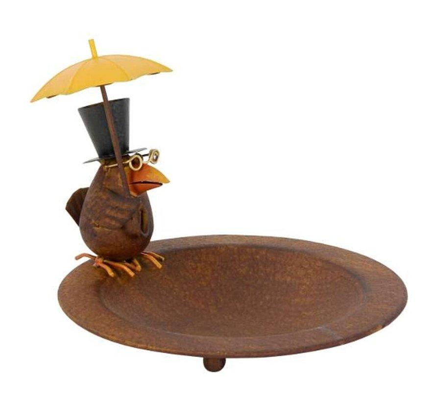 Vogelbad - Vogel met paraplu - ø 23 cm
