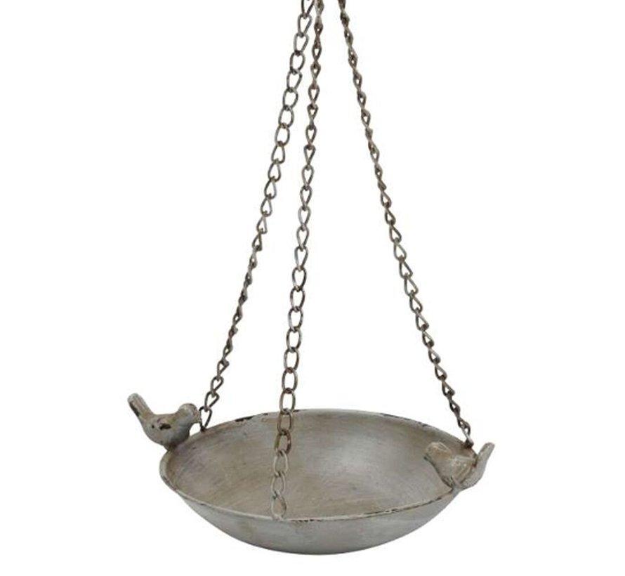 Vogelbadje hangend - Grijs - ø 28,5 cm