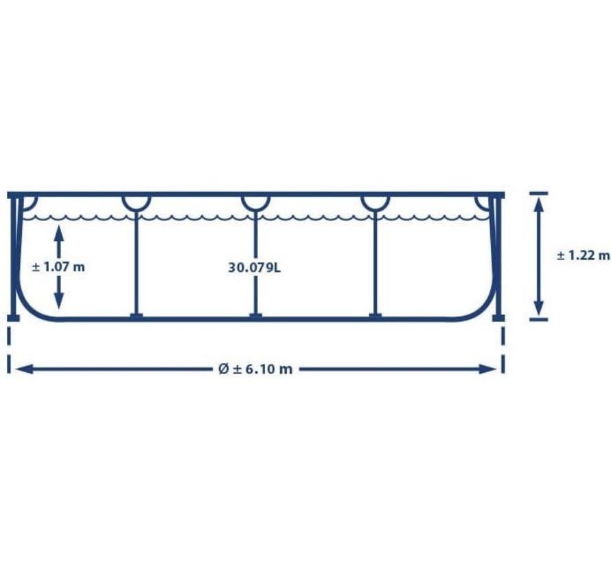 Intex Ultra XTR Frame zwembad - 610 x 122 cm