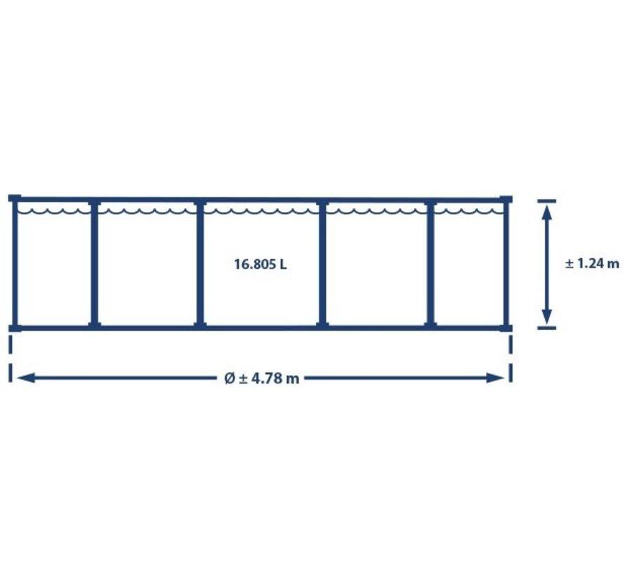 Intex zwembad Graphite Panel - 478 x 124 cm