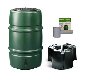 Harcostar Regentonset Harcostar 227 liter - Groen + Voet + Vulautomaat