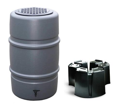 Harcostar Regentonset Harcostar - 227 Liter Antraciet + Voet