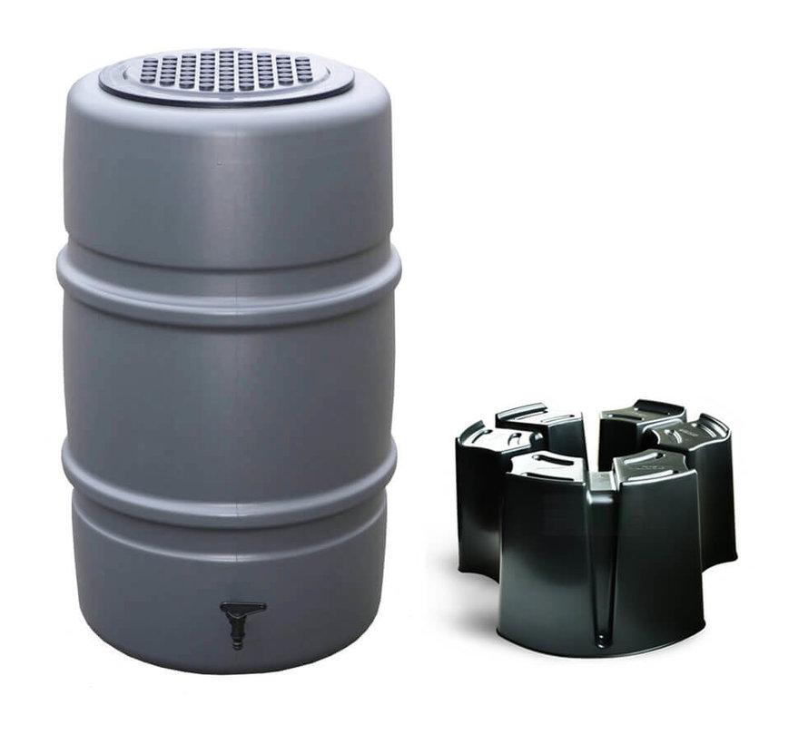 Regentonset Harcostar - 227 Liter Antraciet + Voet